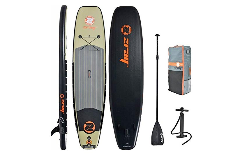 "Z-Ray 11' Fishing SUP Stand up Paddle Board Package w/Pump, Paddle and Travel Backpack, 6"" Thick"