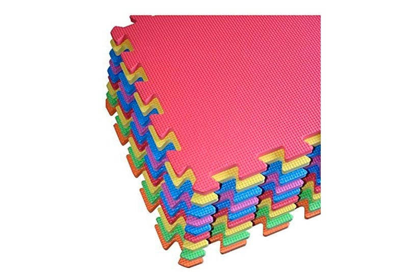 POCO DIVO 9-tile Multi-color Exercise Mat Solid Foam EVA Playmat Kids Safety Play Floor