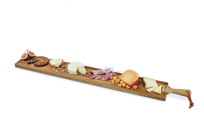"Boska Holland European Oak Wood Cheese Board, Rectangle Paddle Board, 45"" x 6"", Life Collection"