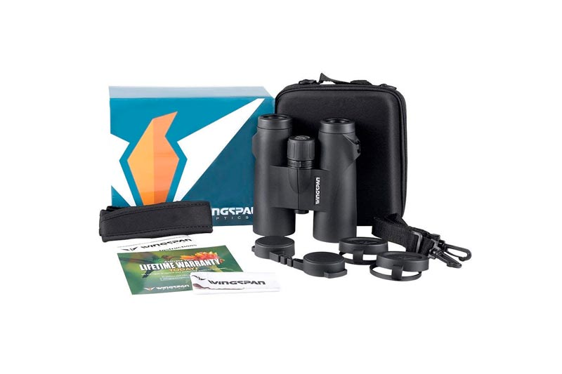 Wingspan Optics WideViews HD 8X42 Professional Binoculars for Bird Watching. Extra-Wide Field of View for the Brightest, Clearest Detail. Close Focus for Closer Views. HD Quality at an Affordable Price